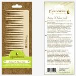 Macadamia Oil Infused Comb Гребень для волос, пропитанный маслами