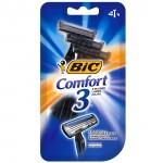 BIC Comfort 3 Disposable Razor Одноразовые станки для бритья, 4 шт.