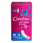 Carefree Acti-Fresh Daily Liners Extra Long Unscented Ежедневные гигиенические прокладки экстрадлинные, без отдушек, 36 шт.