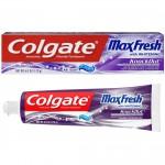 Colgate Max Fresh Anticavity Fluoride Toothpaste with Whitening KnockOut Mint Fusion Отбеливающая зубная паста с технологией нейтрализации запаха 170 г