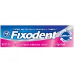 Fixodent Complete Denture Adhesive Cream Original Клейкий крем для зубных протезов 21 г
