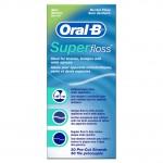 Oral-B Super Floss for Braces, Bridges and Wide Gaps Зубная нить для чистки брекетов, мостовидных протезов и широких межзубных промежутков, 50 шт
