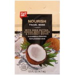 Walgreens Nourish Facial Mask with Shea Butter, Cocoa Seed Butter & Coconut Water Питательная маска для лица 14.7 мл