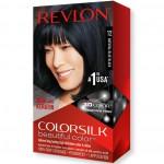 Revlon ColorSilk Beautiful Color Стойкая краска для волос оттенок 12 Natural Blue Black (1BB Иссиня-черный)