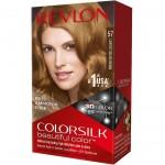 Revlon ColorSilk Beautiful Color Стойкая краска для волос оттенок 57 Lightest Golden Brown (Самый светлый золотисто-каштановый)