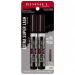 Rimmel Extra Super Lash Building Mascara Тушь для ресниц оттенок 101 Black, 2 шт.