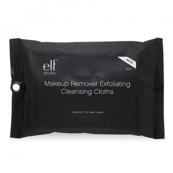 e.l.f. Studio Makeup Remover Exfoliating Cleansing Cloths Салфетки эксфолиирующие для снятия макияжа