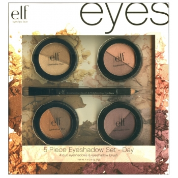 """e.l.f. Essential 5-Piece Duo Eyeshadow Collection Day Набор теней + карандаш с кистью """"Дневной"""""""