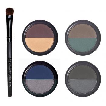 "e.l.f. Essential Beauty Must Haves 5-Piece Eyeshadow Set Night Набор теней + кисть ""Вечерний"""