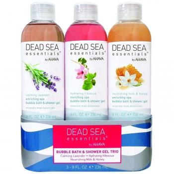 AHAVA Dead Sea Essentials Bubble Bath & Shower Gel Trio Set Набор - Пены для ванны / Гели для душа