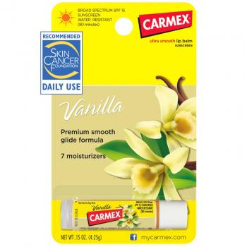 Carmex Lip Balm Stick SPF 15 Vanilla Лечебный бальзам для губ в стике SPF 15 Ваниль 4.25 г