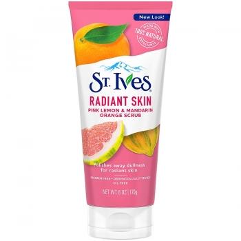 St. Ives Radiant Skin Pink Lemon & Mandarin Orange Scrub Скраб для выравнивания тона лица 170 г
