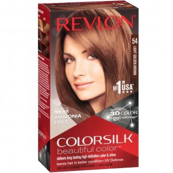 Revlon ColorSilk Beautiful Color Стойкая краска для волос оттенок 54 Light Golden Brown (5G Светлый золотисто-каштановый)