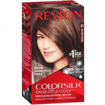 Revlon ColorSilk Beautiful Color Стойкая краска для волос оттенок 41 Medium Brown (4N Средне-каштановый)