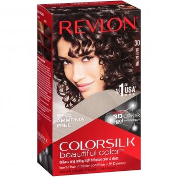 Revlon ColorSilk Beautiful Color Стойкая краска для волос оттенок 30 Dark Brown (3N Темно-каштановый)