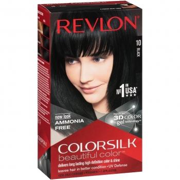 Revlon ColorSilk Beautiful Color Стойкая краска для волос оттенок 10 Black (1N Черный)