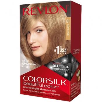Revlon ColorSilk Beautiful Color Стойкая краска для волос оттенок 61 Dark Blonde (6N Темный блондин)