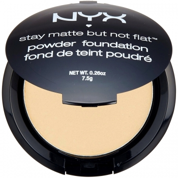 NYX Professional Makeup Stay Matte But Not Flat Powder Foundation Матирующая тональная пудра - основа оттенок Nude