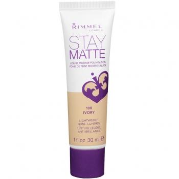 Rimmel Stay Matte Liquid Mousse Foundation Матирующий тональный крем оттенок 100 Ivory