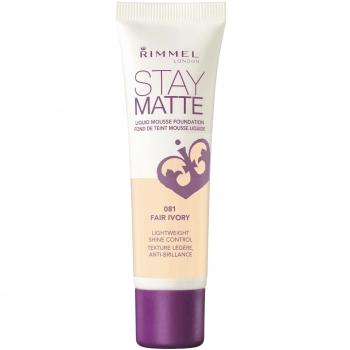 Rimmel Stay Matte Liquid Mousse Foundation Матирующий тональный крем оттенок 081 Fair Ivory