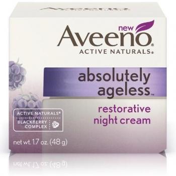 Aveeno Absolutely Ageless Restorative Night Cream Восстанавливающий ночной крем для лица 14 г (миниатюра)