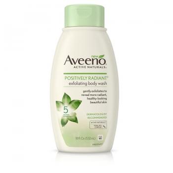 Aveeno Positively Radiant Exfoliating Body Wash Эксфолиирующий гель для душа 29 мл (миниатюра)