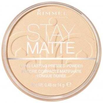 Rimmel Stay Matte Pressed Powder Матирующая пудра оттенок 020 Nude Beige