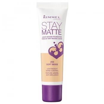 Rimmel Stay Matte Liquid Mousse Foundation Матирующий тональный крем оттенок 200 Soft Beige