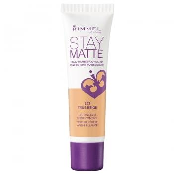 Rimmel Stay Matte Liquid Mousse Foundation Матирующий тональный крем оттенок 203 True Beige
