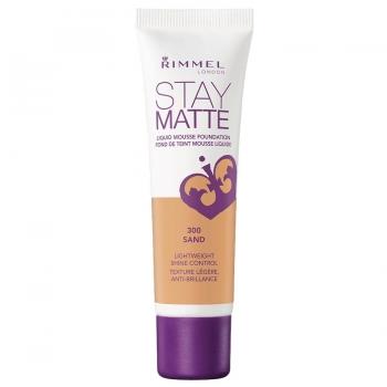 Rimmel Stay Matte Liquid Mousse Foundation Матирующий тональный крем оттенок 300 Sand