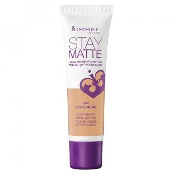 Rimmel Stay Matte Liquid Mousse Foundation Матирующий тональный крем оттенок 302 Light Nude