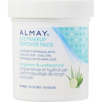 Almay Longwear & Waterproof Eye Makeup Remover Pads Диски для снятия макияжа с глаз, 80 шт.
