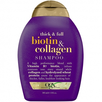 OGX Thick and Full Biotin & Collagen Shampoo Шампунь с биотином и коллагеном для утолщения волос 385 мл