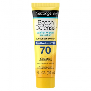 Neutrogena Beach Defense Water + Sun Protection Sunscreen Lotion SPF 70 Солнцезащитный крем 29 мл