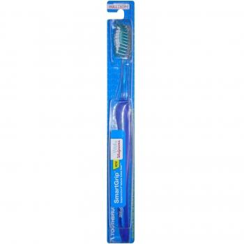 Well at Walgreens SmartGrip Full Head Toothbrush, Soft Bristles Зубная щетка мягкая, темно-синяя