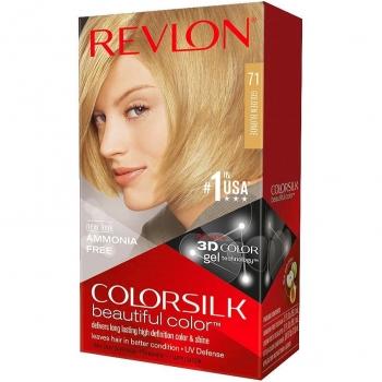 Revlon ColorSilk Beautiful Color Стойкая краска для волос оттенок 71 Golden Blonde (7G Золотистый блондин)