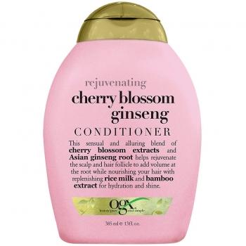 OGX Rejuvenating Cherry Blossom Ginseng Conditioner Омолаживающий кондиционер с экстрактами цветков вишни и корня женьшеня 385 мл