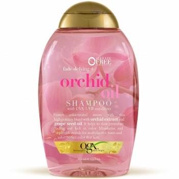 OGX Fade-Defying + Orchid Oil Shampoo Шампунь для защиты цвета окрашенных волос с маслом орхидеи и фильтрами UVA / UVB 385 мл