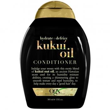 OGX Hydrate & Defrizz + Kukui Oil Conditioner Увлажняющий разглаживающий кондиционер с  маслом кукуи 385 мл