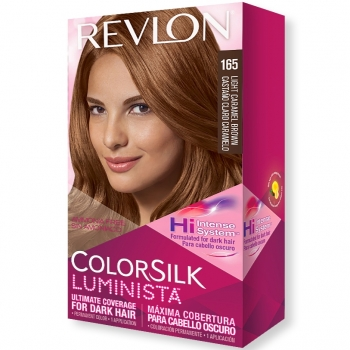 Revlon ColorSilk Luminista Hair Color Стойкая краска для темных волос оттенок 165 Light Caramel Brown (Светлый карамельно-каштановый)