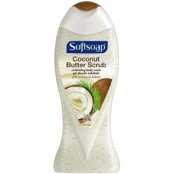 Softsoap Coconut Butter Scrub Exfoliating Body Wash Эксфолиирующий гель для душа 443 мл