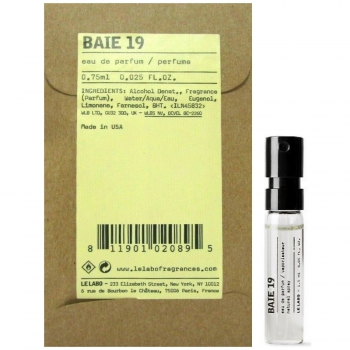 Le Labo Baie 19 Eau De Parfum Парфюмерная вода 0.75 мл (пробник)
