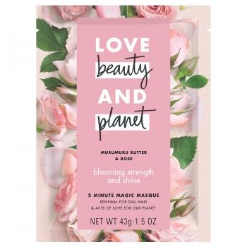 "Love, Beauty & Planet Blooming Strength & Shine Hair Mask Murumuru Butter & Rose Маска против тусклости волос ""Сила и блеск"" 43 г"