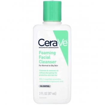 CeraVe Foaming Facial Cleanser Пенка для умывания с церамидами 87 мл (миниатюра)