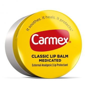 Carmex Classic Lip Balm Medicated Лечебный бальзам для губ в баночке Original 7.5 г