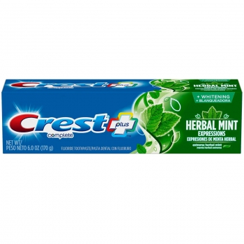 "Crest Complete Whitening Plus Herbal Mint Expressions Toothpaste Отбеливающая зубная паста ""Мята с травами"" 170 г"