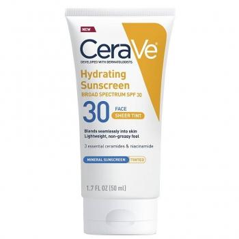 CeraVe Hydrating Sunscreen SPF 30 Face Sheer Tint Солнцезащитный крем - тинт для лица 5 мл (миниатюра)
