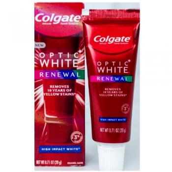 Colgate Optic White Renewal High Impact White Toothpaste Отбеливающая зубная паста с фтором 20 г (миниатюра)