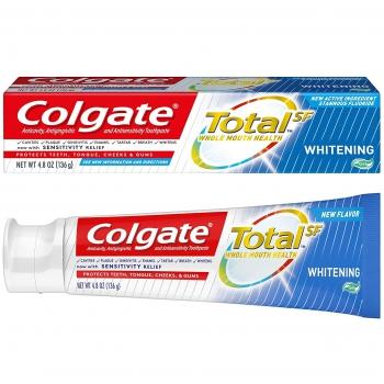 Colgate Total SF Whitening Gel Toothpaste Отбеливающая зубная паста-гель 136 г