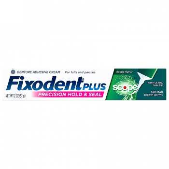 Fixodent Plus Scope Denture Adhesive Cream Клейкий крем для зубных протезов с освежающим ароматом 57 г